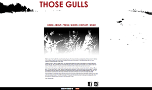 Those Gulls Website Preview