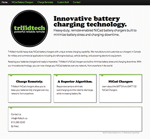 Trifidtech Battery Charging Technology Website Preview